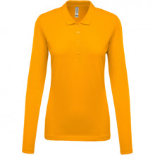 Ladies pique long sleeve